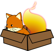 The Japanese Firefox mascot, Foxkeh, doing some sandboxing